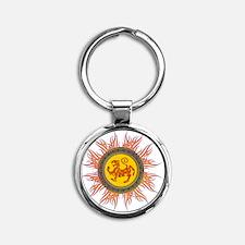 SHOTOKAN_TIGER_5x4_pocket Round Keychain