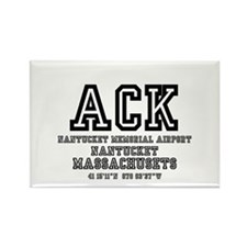 AIRPORT CODES - ACK - NANTUCKET,  Rectangle Magnet