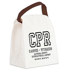 AIRPORT CODES - CPR - CASPER, WYO Canvas Lunch Bag