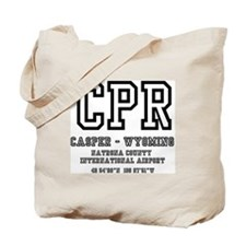 AIRPORT CODES - CPR - CASPER, WYOMING Tote Bag