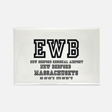 AIRPORT CODES - EWB - NEW BEDFORD Rectangle Magnet