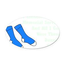 Darned Socks mint Oval Car Magnet