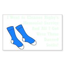 Darned Socks mint Decal