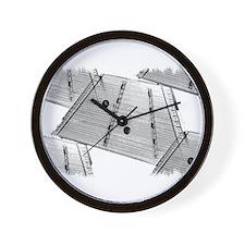 Hammered Dulcimer Wall Clock