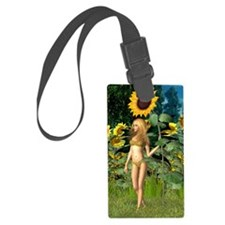 Sunflower Fairy with Summer Back Luggage Tag
