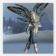 """Winter Frost Fairy Square Car Magnet 3"""" x 3"""""""