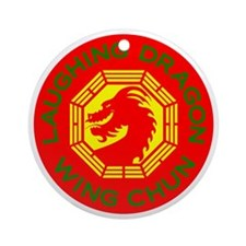 Laughing Dragon RYGF Round Ornament