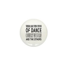 Country Western Dance Designs Mini Button (10 pack
