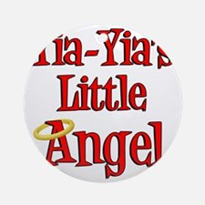 Yia Yias Little Angel Round Ornament