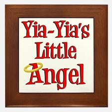 Yia Yias Little Angel Framed Tile