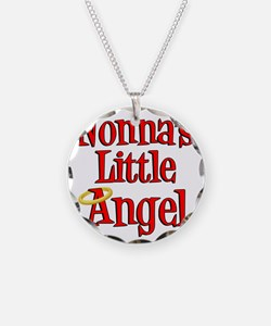 Nonnas Little Angel Necklace Circle Charm