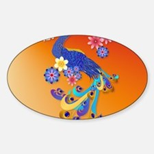 CalenderFancy Peacock and Flowers Decal