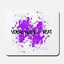 Purple Paint Splatter Mousepad