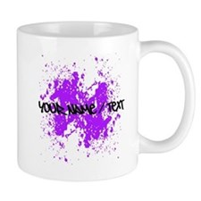 Purple Paint Splatter Mugs