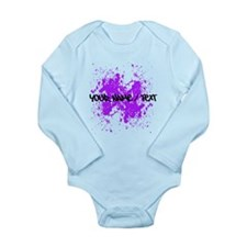 Purple Paint Splatter Body Suit