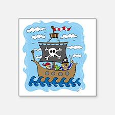 "pirate1 Square Sticker 3"" x 3"""