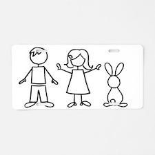 bunfamilysticker1 Aluminum License Plate
