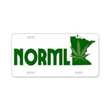 MN NORML Logo white on tran Aluminum License Plate