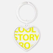 Cool-story-bro-(yellow) Heart Keychain