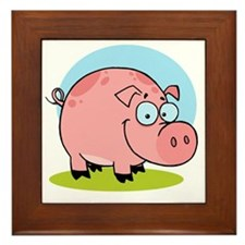 Happy-Pig Framed Tile