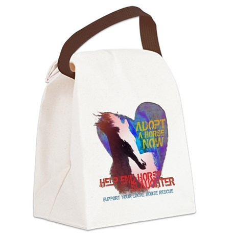 Adopt A Horse Canvas Lunch Bag