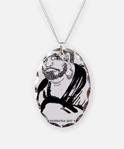 Bodhidharma1 Necklace Oval Charm