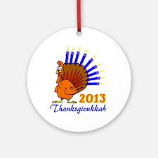Thanksgivukkah 2013 Menurkey Ornament (Round)