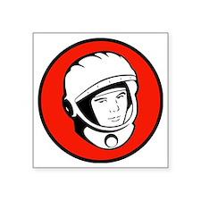 "Yuris Gargarin Icon Square Sticker 3"" x 3"""