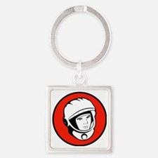 Yuris Gargarin Icon Square Keychain