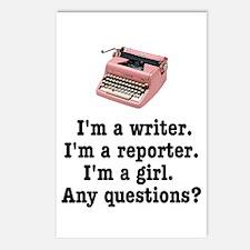 Pink Typewriter Postcards