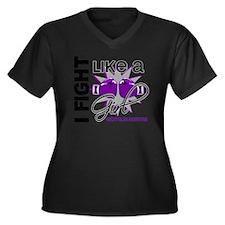 DONE1 Women's Plus Size Dark V-Neck T-Shirt