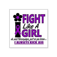 "Fibromyalgia Square Sticker 3"" x 3"""