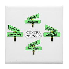 Contra Corners Tile Coaster
