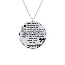 Wesley Religion Quote Necklace