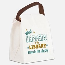 What_Happens_in_the_Library_Green Canvas Lunch Bag