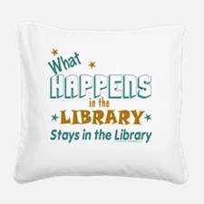 What_Happens_in_the_Library_G Square Canvas Pillow