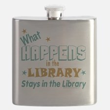 What_Happens_in_the_Library_Green_and_Gold Flask