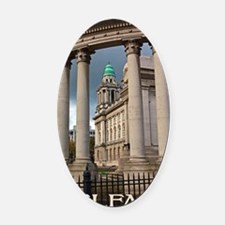 Belfast City Hall Oval Car Magnet