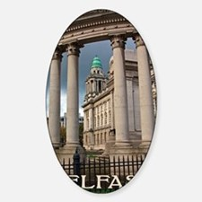 Belfast City Hall Sticker (Oval)