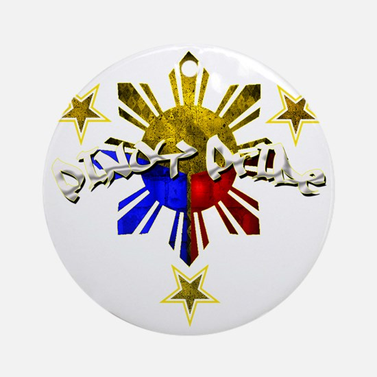 pinoy pride Round Ornament