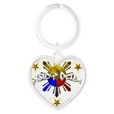 pinoy pride Heart Keychain