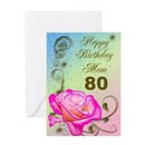 80th birthday cards Stationery