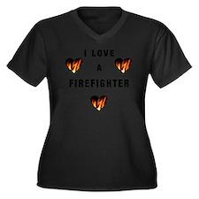 I Love A Fir Women's Plus Size Dark V-Neck T-Shirt