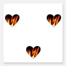 "I Love A Firefighte... Square Car Magnet 3"" x 3"""