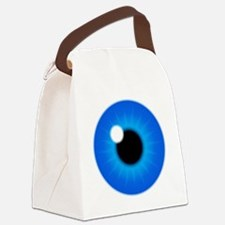 Blue Iris Eye Pupil Canvas Lunch Bag