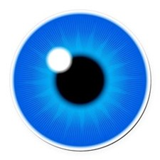 Blue Iris Eye Pupil Round Car Magnet