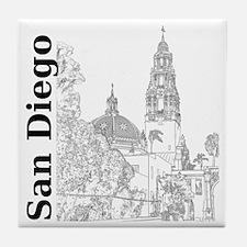 SanDiego_10x10_CaliforniaTower_SD_Ver Tile Coaster