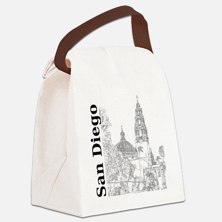 SanDiego_10x10_CaliforniaTower_SD Canvas Lunch Bag