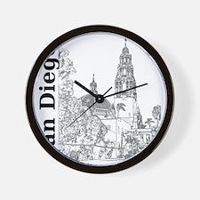 SanDiego_10x10_CaliforniaTower_SD_Vert_ Wall Clock