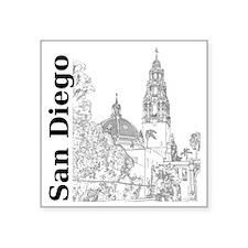 """SanDiego_10x10_CaliforniaTo Square Sticker 3"""" x 3"""""""